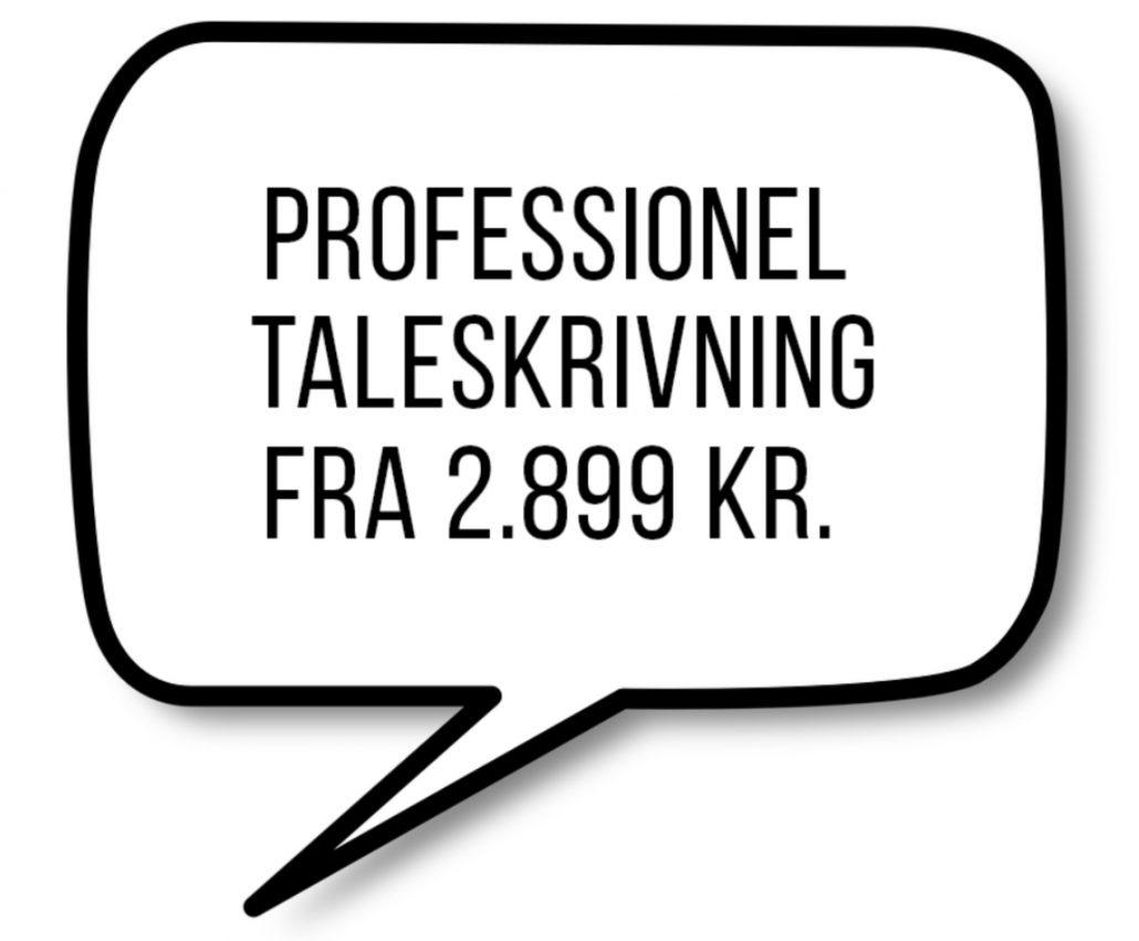 Fra 2.899 kr. kan du få skrevet en personlig tale helt fra bunden.
